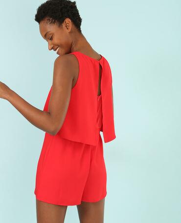 Kombi-Shorts mit Rüsche Rot