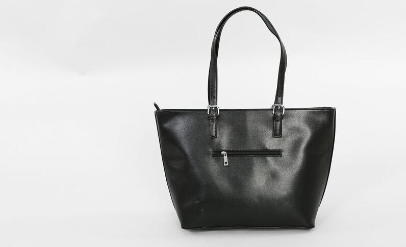 Große Einkaufstasche Schwarz