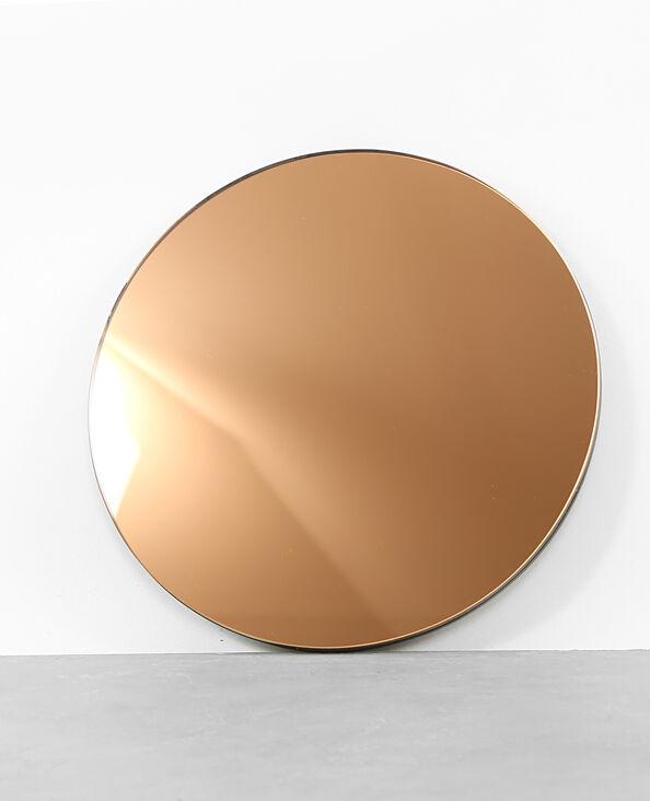 Runder Spiegel in Kupfer-Optik Kupferrot