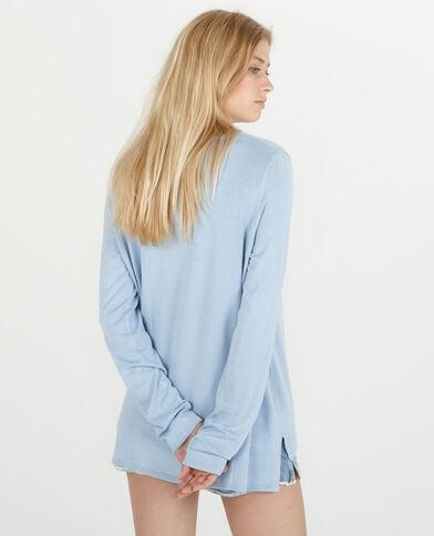 Lange trui hemelsblauw