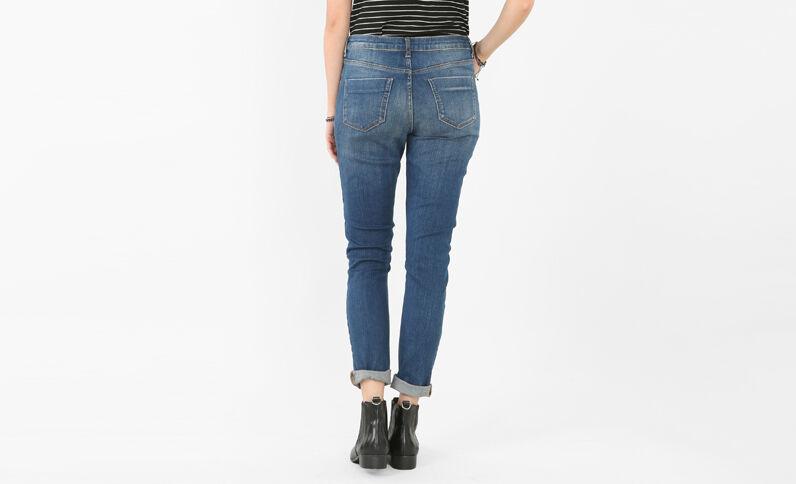 Slim-Jeans mit hoher Taille Blau