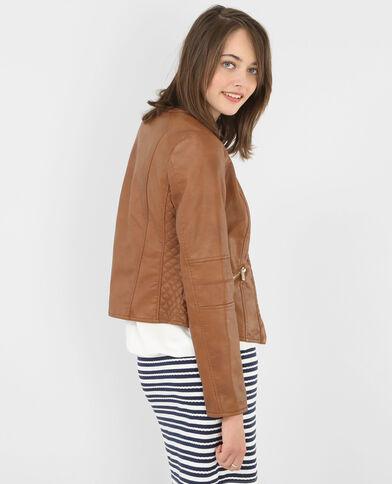 Jacke im Biker-Stil Orangebraun
