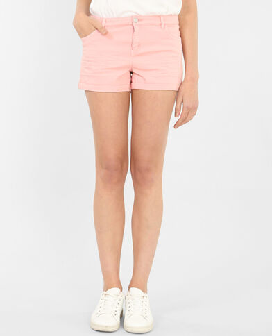 Plissierte Shorts Rosa