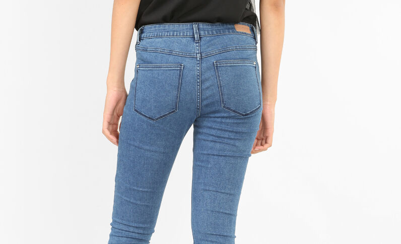 Basic-Jeggings Himmelblau