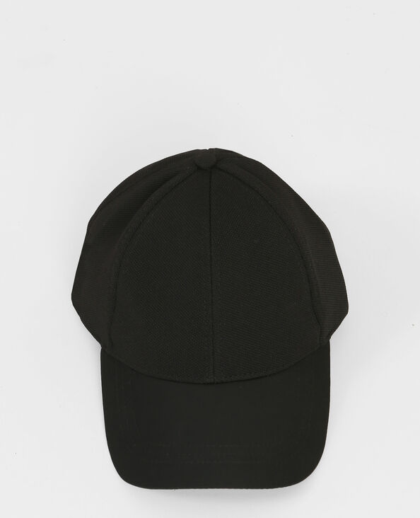 Casquette bi-matière noir