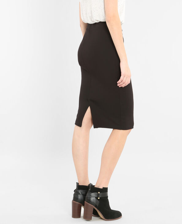 Falda tubo midi negro