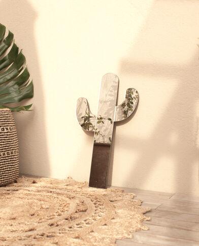 Cactusvormige spiegel zilvergrijs