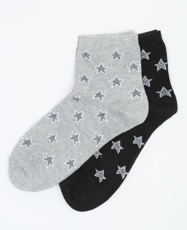 Lot de chaussettes etoiles noir