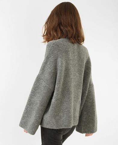Oversized-Pullover Grau