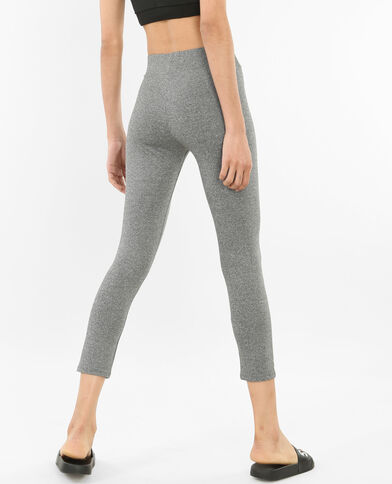 Legging de running gris chiné