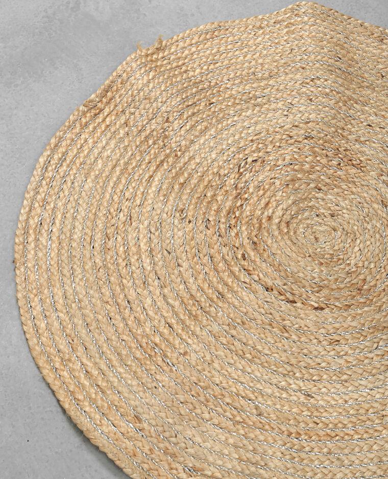 tapis rond beige 904021742f0g pimkie. Black Bedroom Furniture Sets. Home Design Ideas