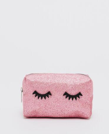 Trousse make up glitter eyes rose