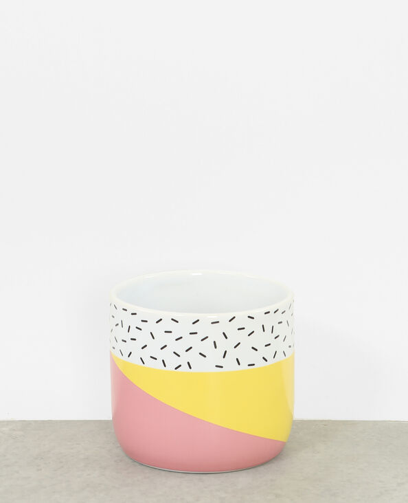 Macetero de cerámica amarillo