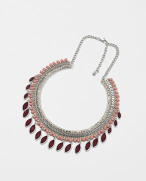 Collier pampilles rouge