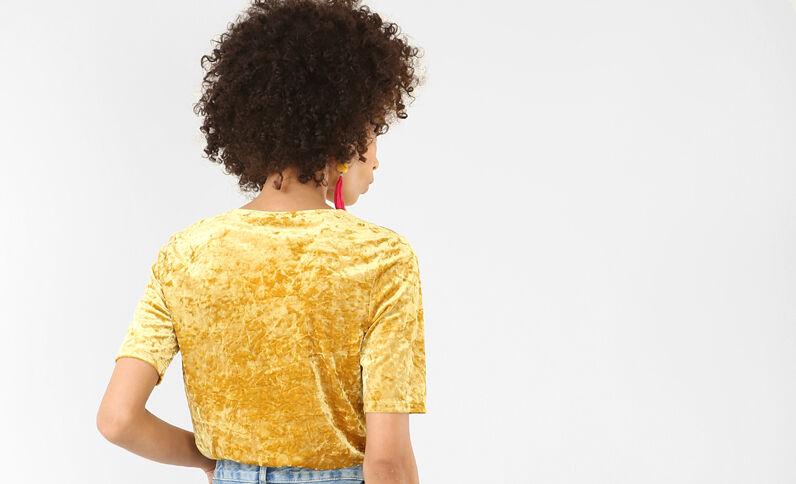Body croisé jaune moutarde
