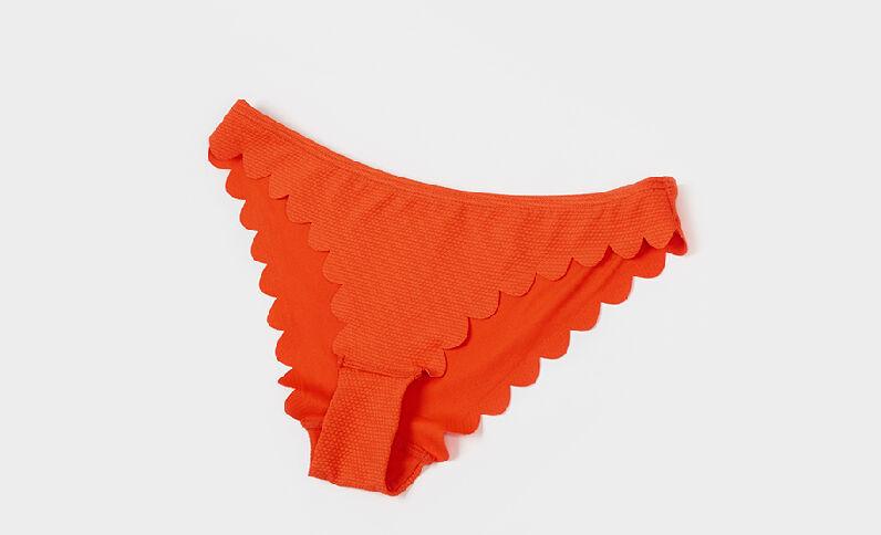 Pezzo sotto di costume da bagno petali arancio