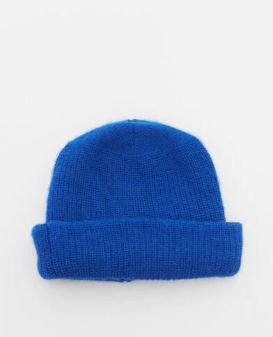 Mütze mit Umschlag Blau