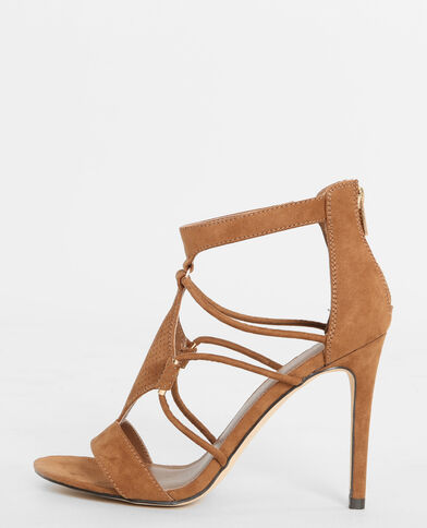 Sandaletten mit Absatz Kastanienbraun