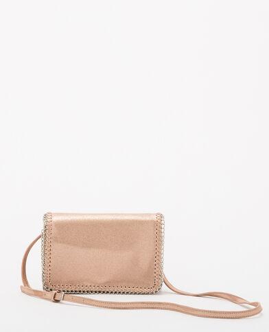 Kleine Handtasche in schillerndem Rosa Rosa