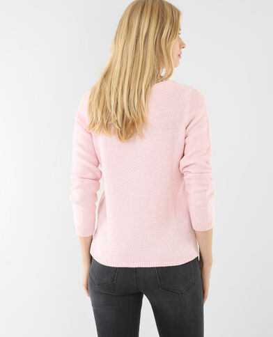 Pull multimaglia rosa