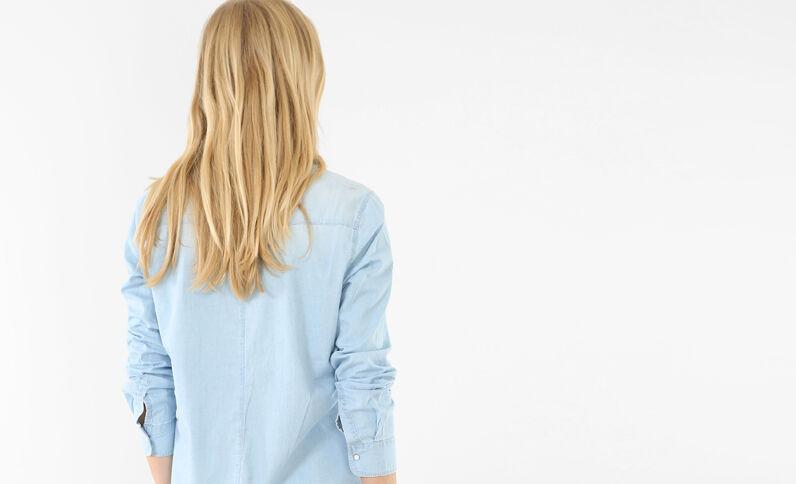 Camisa denim azul