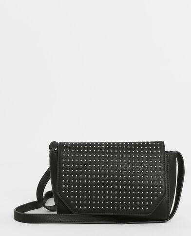 Petit sac boxy clouté noir