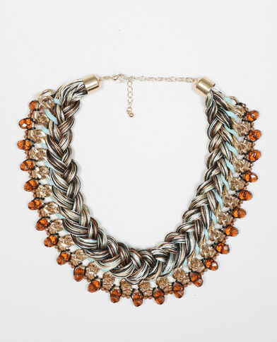 Plastron-Halskette Orange