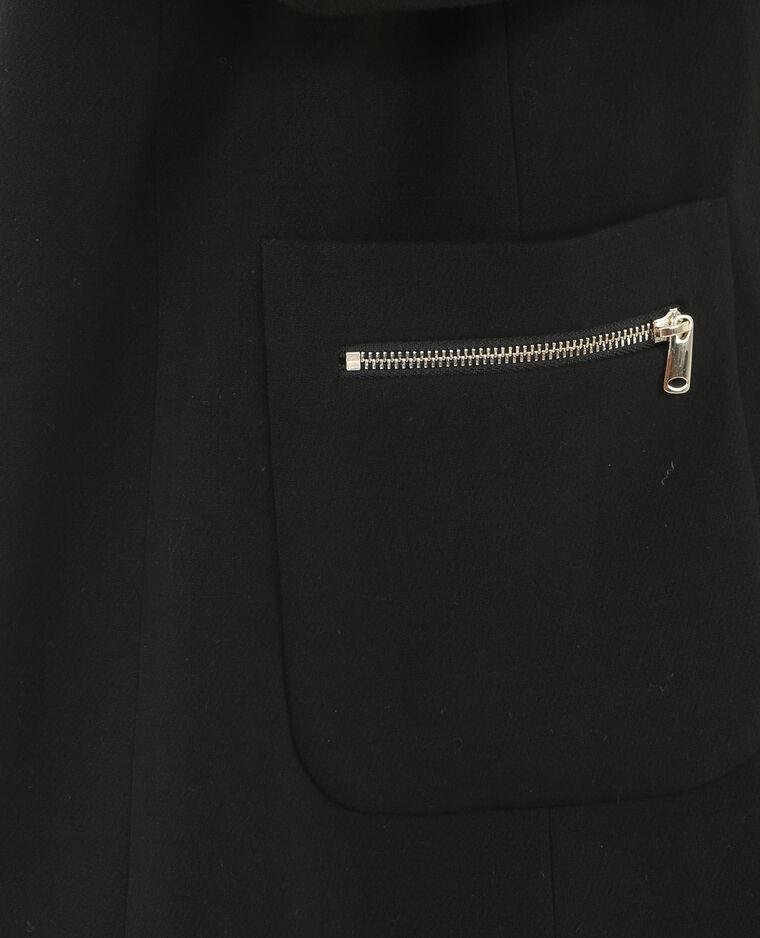 Mantel ohne Kragen Schwarz