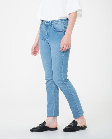 Slim fit broek met hoge taille blauw