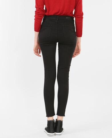 Skinny-Jeans Raw-Cut Schwarz