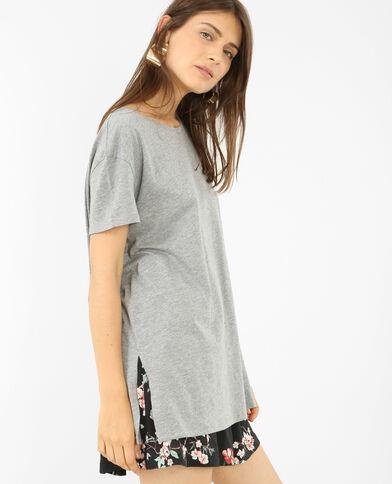 T-shirt met korte mouwen parelgrijs