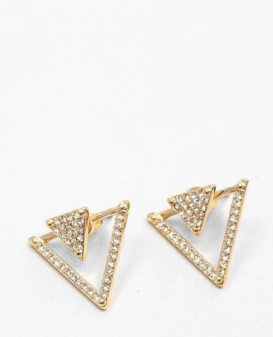 Boucles d'oreilles triangles doré