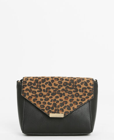 Bolso bandolera de leopardo negro