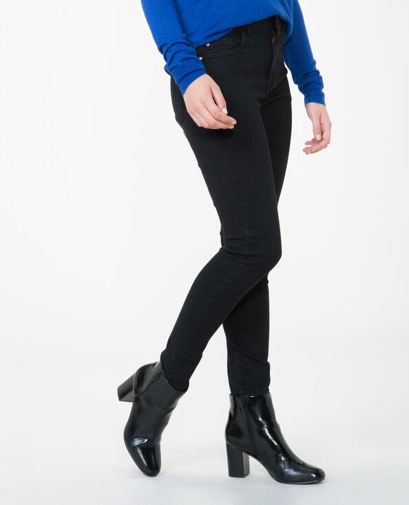 High Waist Skinny Jeans Schwarz