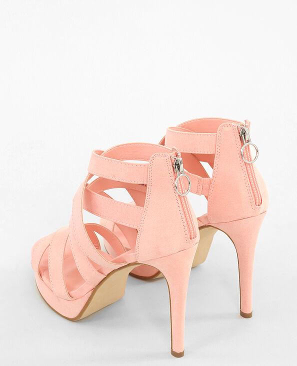 Sandali con i tacchi alti rosa rosa cipria