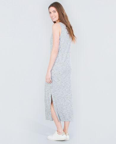 Langes Shirt-Kleid Grau
