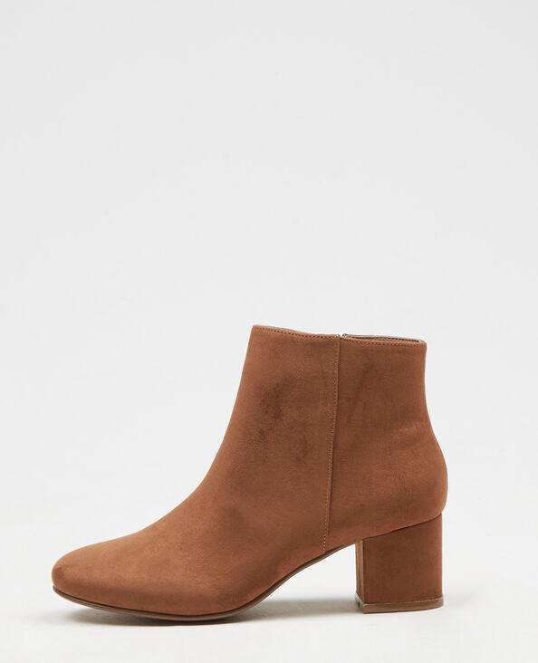 Boots effetto pelle scamosciata marrone