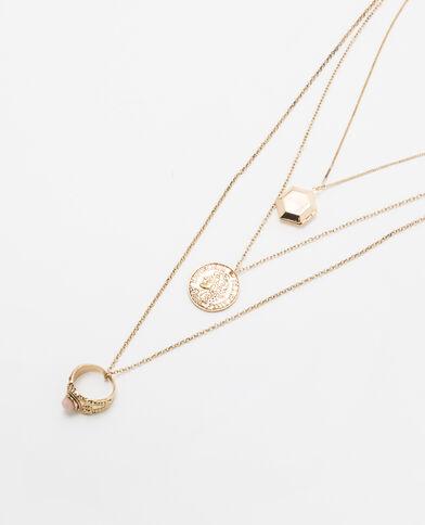 Collana multifili dorata dorato