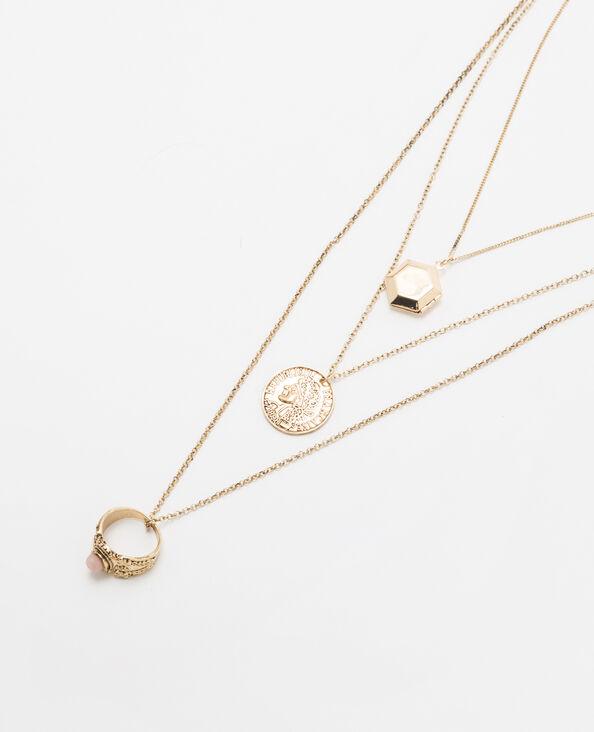 Goldfarbene mehrreihige Halskette Gold