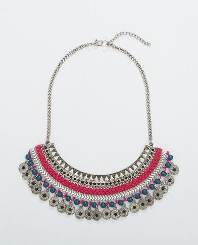 Plastron-Halskette Silber