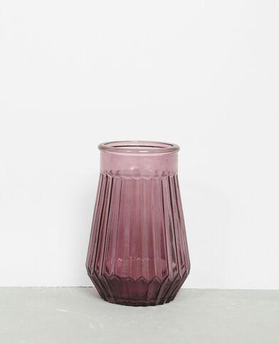 Jarrón de cristal de color violeta