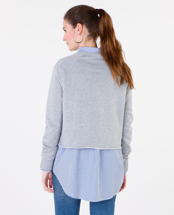 Sweat cropped gris chiné