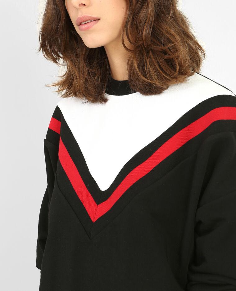 Sudadera tricolor Negro