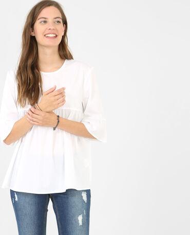 Chemise peplum blanc