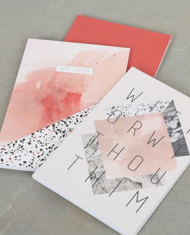 Lot de carnets imprimés rose