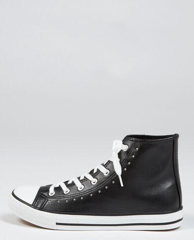 Scarpe da basket in similpelle con borchie nero