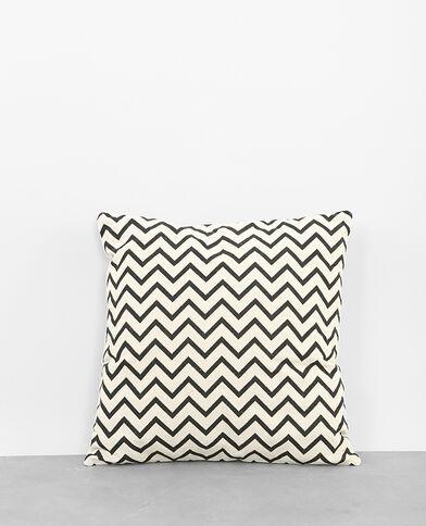 Housse de coussin zigzag blanc