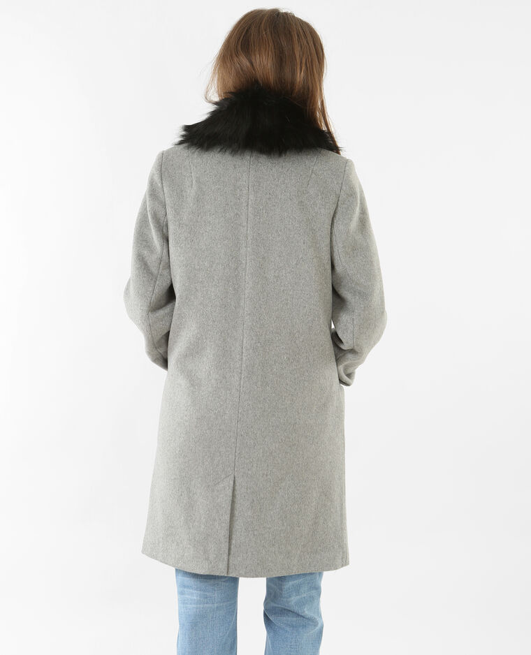 mantel aus wollmischgewebe grau meliert 281077830a08. Black Bedroom Furniture Sets. Home Design Ideas