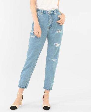 Mom-Jeans Denimblau