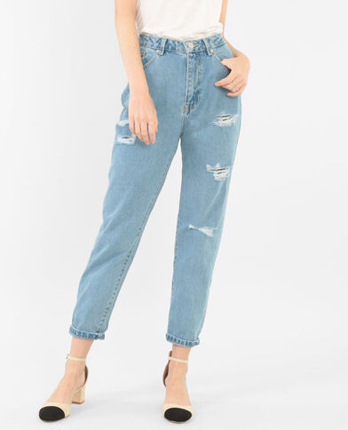 Mom jeans denimblauw